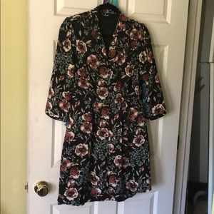 NWT Lulu's floral collared dress